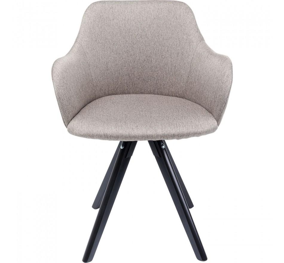 Chaise pivotante Lady Loco taupe Kare Design