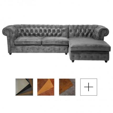Canapé d'angle Oxford droite sur-mesure Kare Design