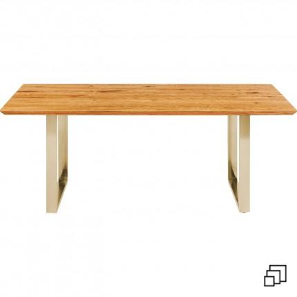 Table Symphony chêne laiton Kare Design