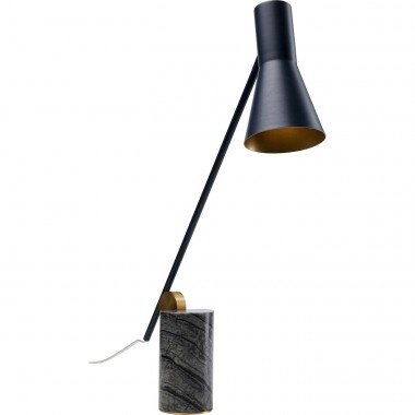 Lampe de table Metro marbre noir Kare Design