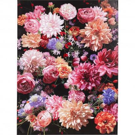 Tableau Touched bouquet de fleurs roses 90x120cm Kare Design