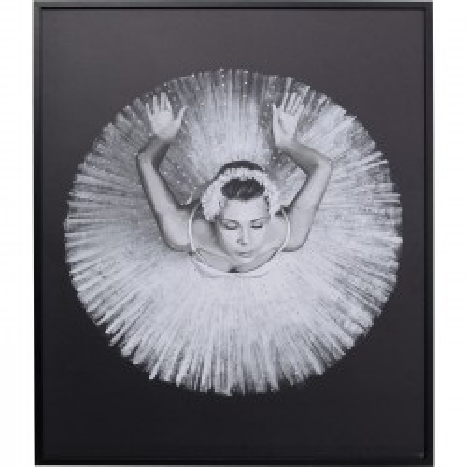 Tableau Frame danseuse ballerine 100x120cm Kare Design