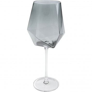 Verres à vin Diamond fumé set de 6 Kare Design