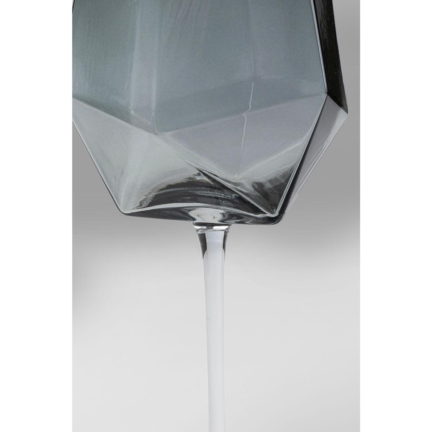 Verres à vin Diamond fumé set de 6 Kare Design
