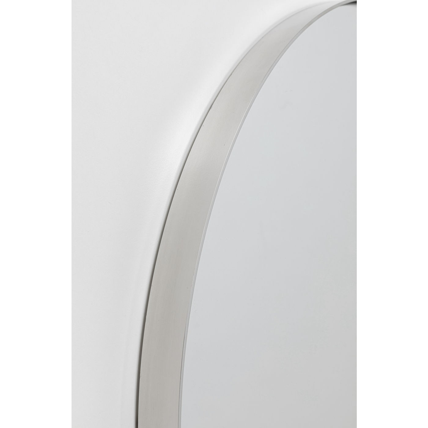 Miroir Curve rond chrome 100cm Kare Design