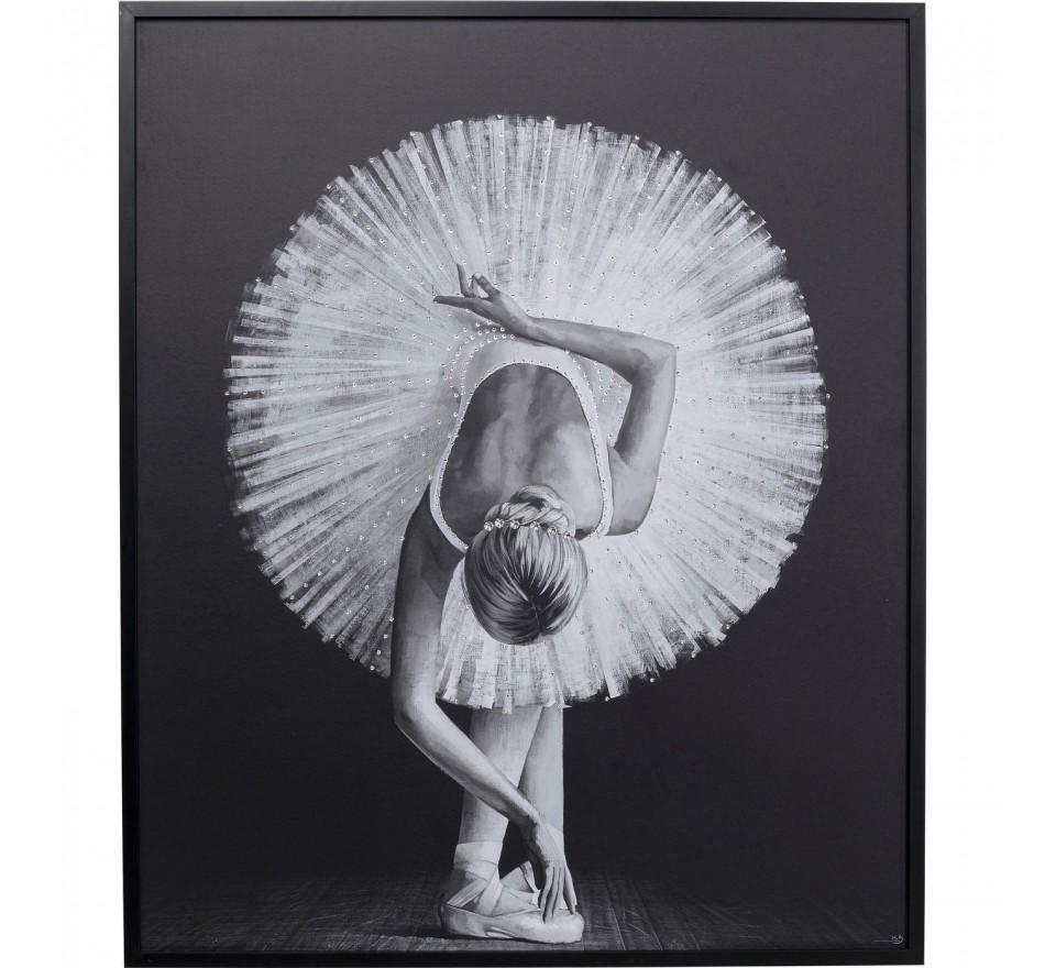 Tableau Frame danseuse ballerine penchée 120x100cm Kare Design
