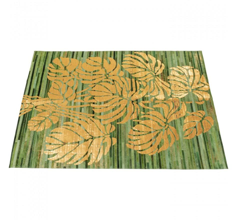 Tapis feuilles dorées 170x240cm Kare Design
