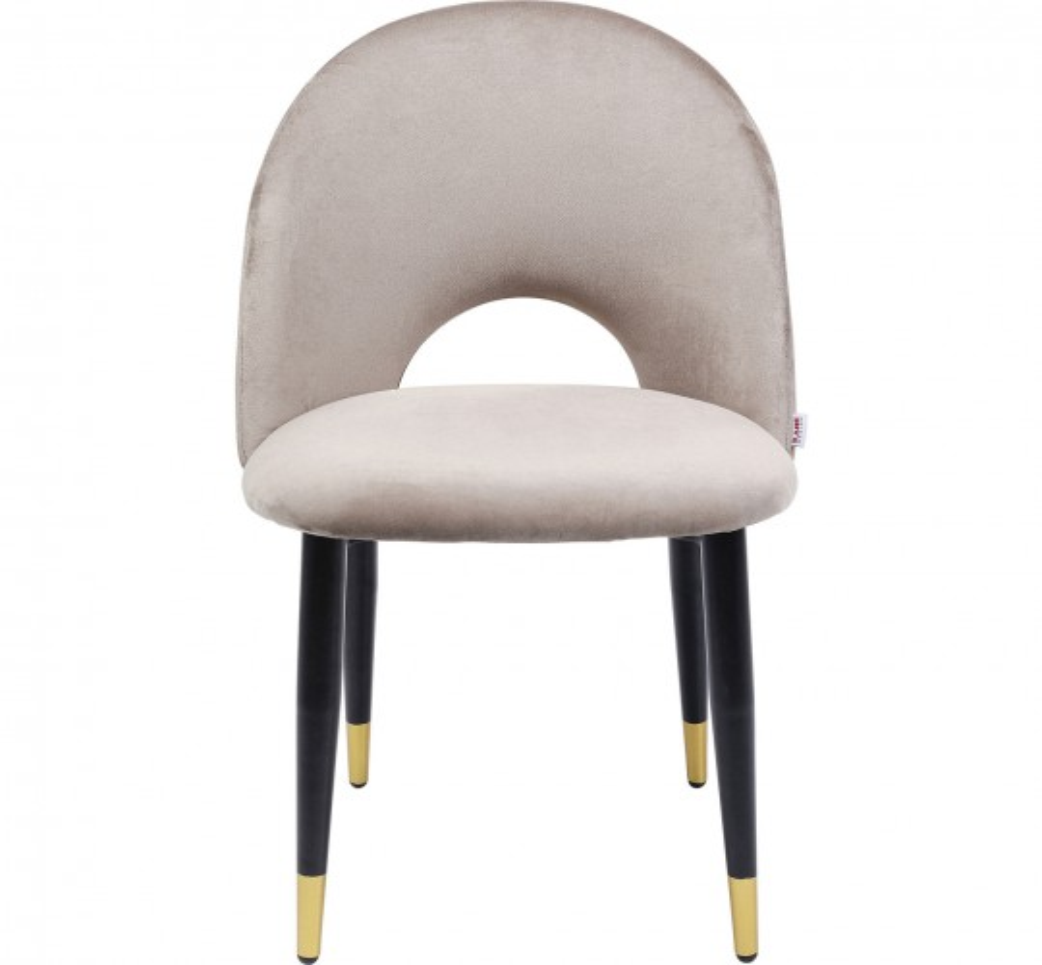 Chaise Iris velours beige Kare Design