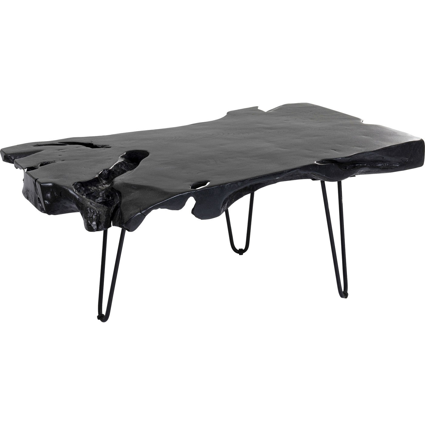 Table basse Aspen 100x40cm noire Kare Design