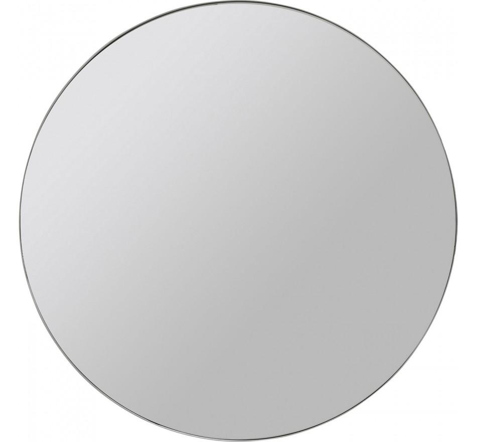 Miroir Curve rond chrome 60cm Kare Design