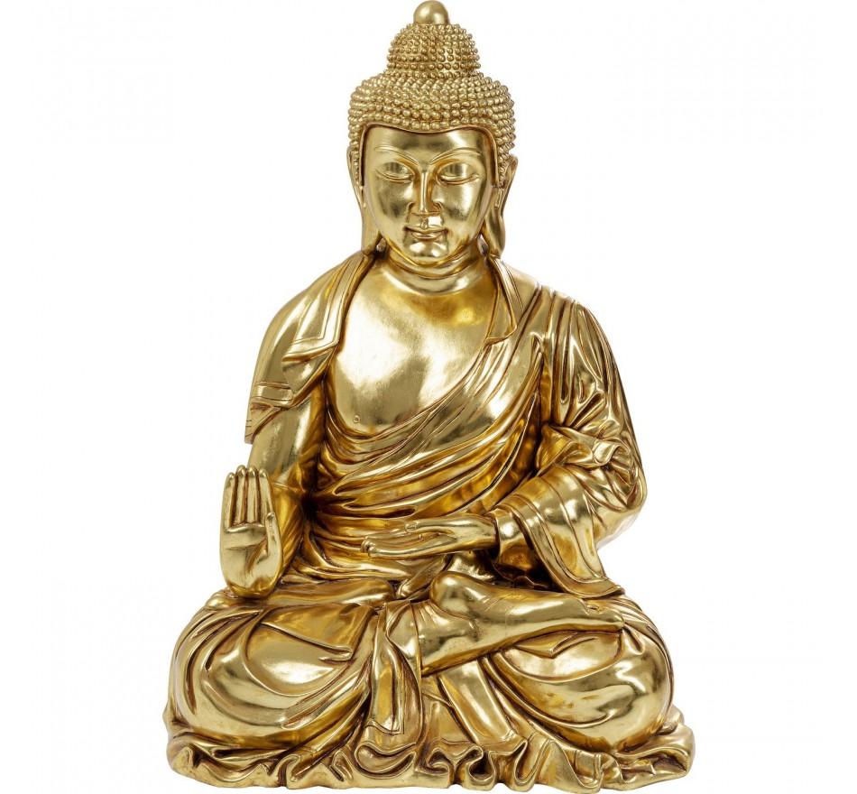 Déco Asie dorée méditation XL 120cm Kare Design