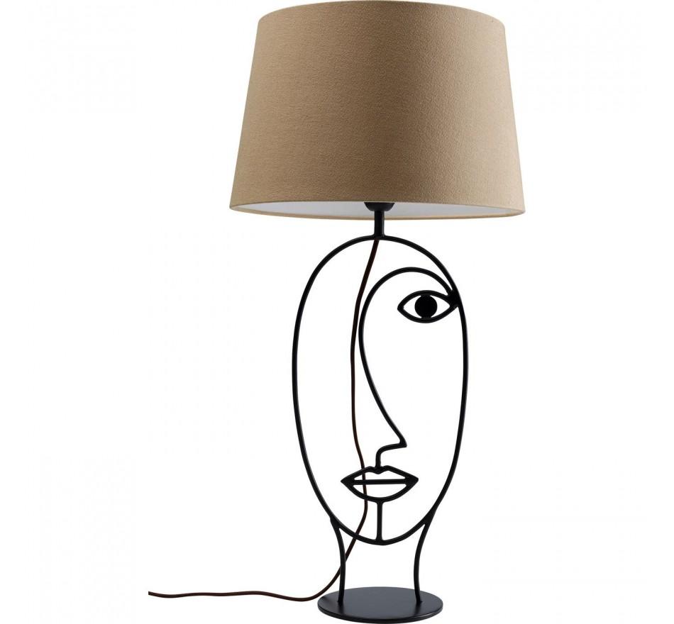 Lampe de table Wire visage marron Kare Design