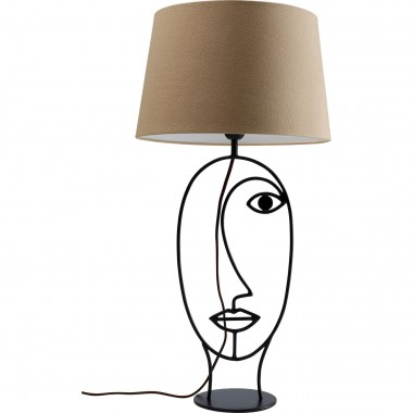 Lampe de table Wire visage marron Kare Design