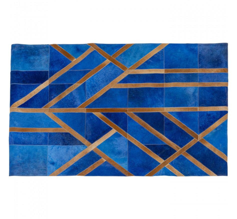 Tapis Lines bleu 170x240cm Kare Design