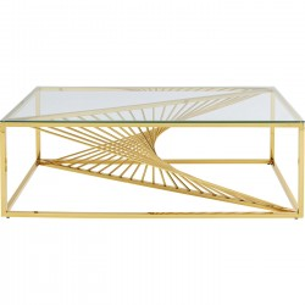 Table basse Laser 120x60cm dorée Kare Design