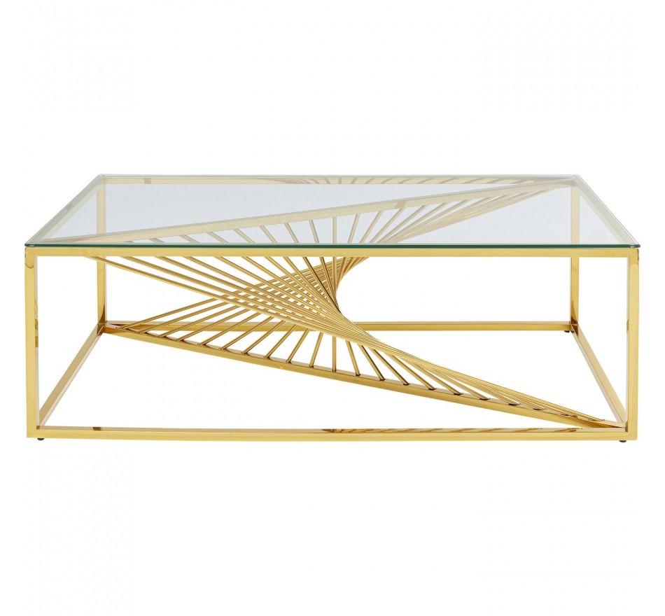 Table basse Laser dorée 120x60cm Kare Design