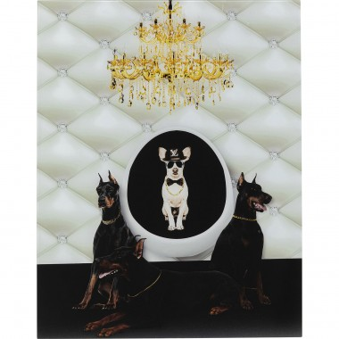Tableau en verre Doberman Bodyguards 60x80cm Kare Design