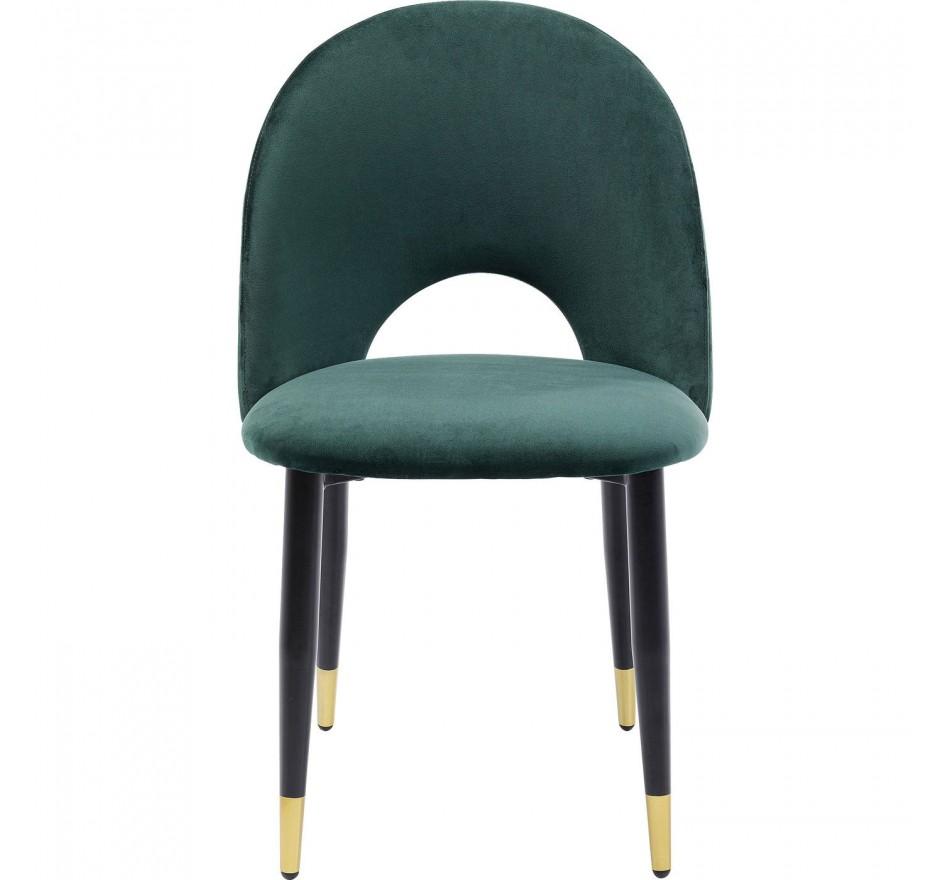 Chaise Iris velours vert Kare Design