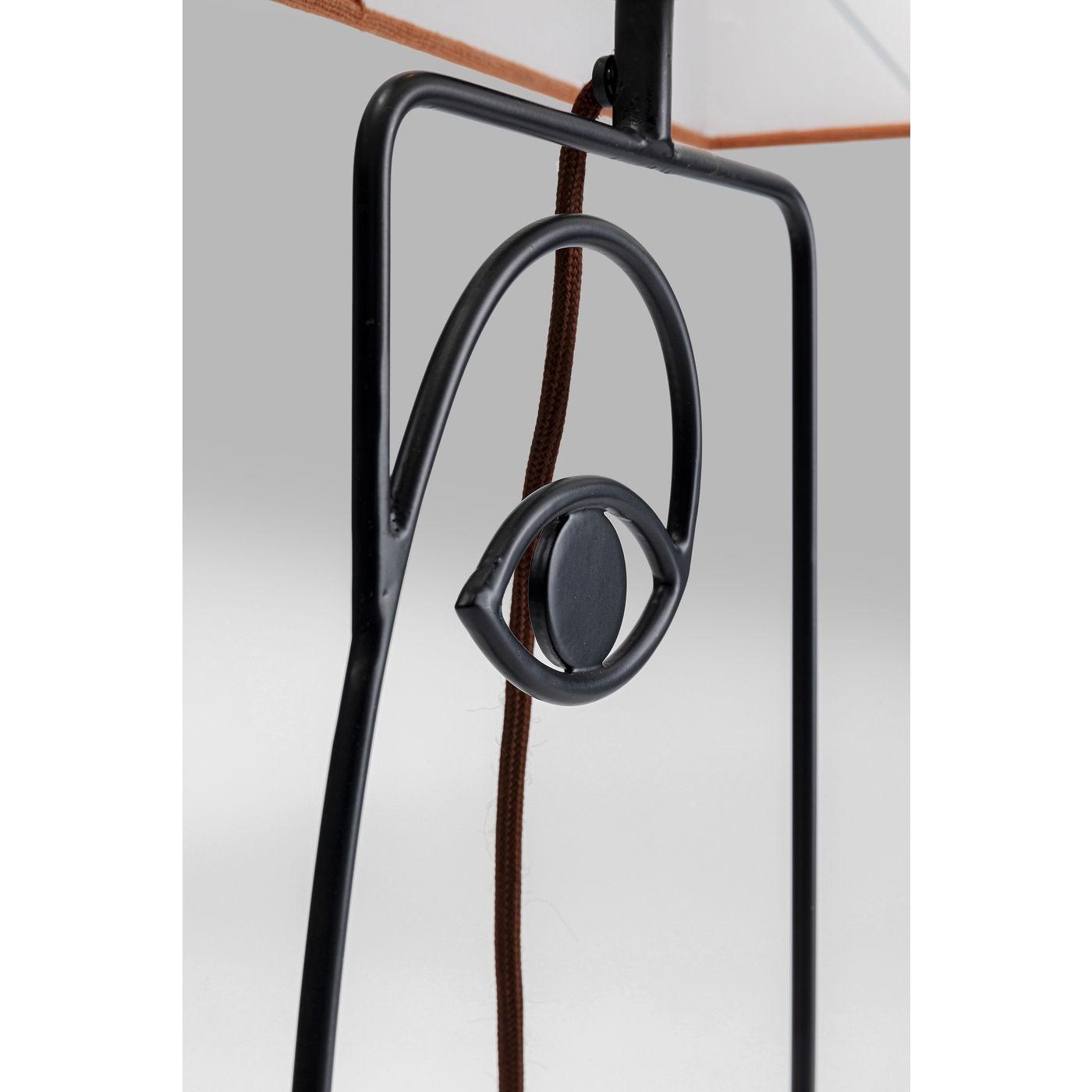 Lampe de table Wire visage orange Kare Design