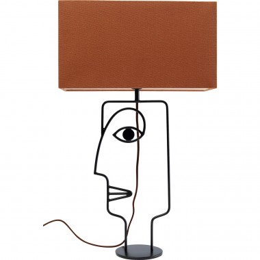 Lampe de table Wire visage orange Kare Design