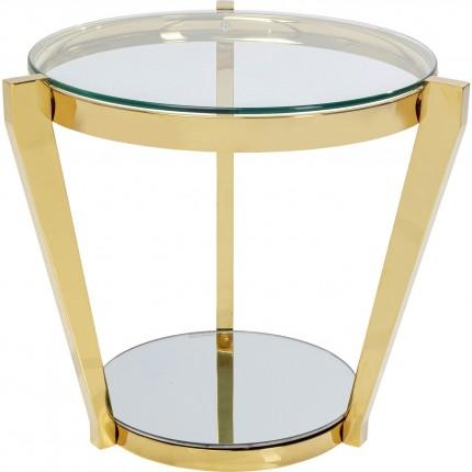 Table d'appoint Monocolo 50cm dorée Kare Design