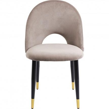 Chaise Iris velours taupe Kare Design