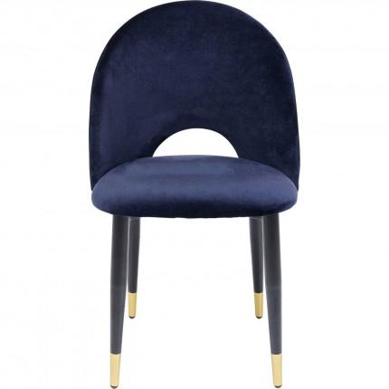 Chaise Iris velours bleu Kare Design
