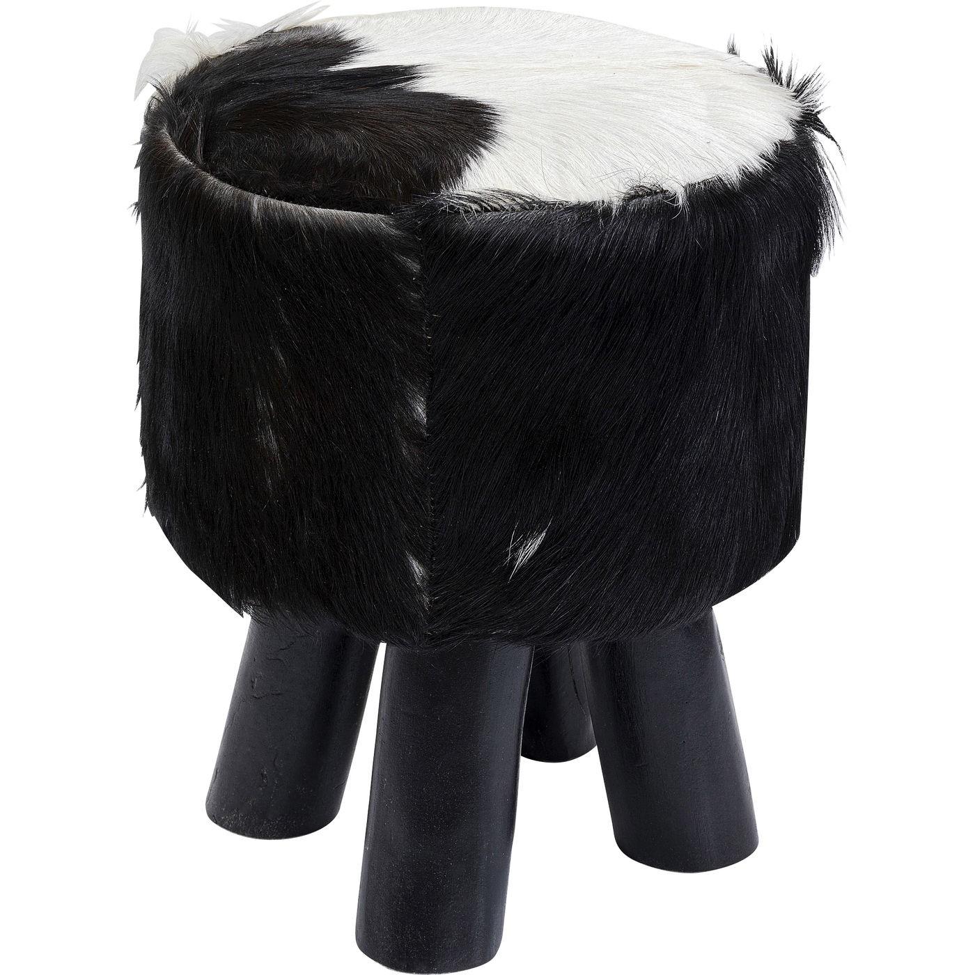 Tabouret Flint Stone 35cm noir Kare Design