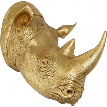 Tête Rhino doré XL 107cm Kare Design