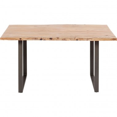 Table de bar Harmony acacia acier 160x80cm Kare Design