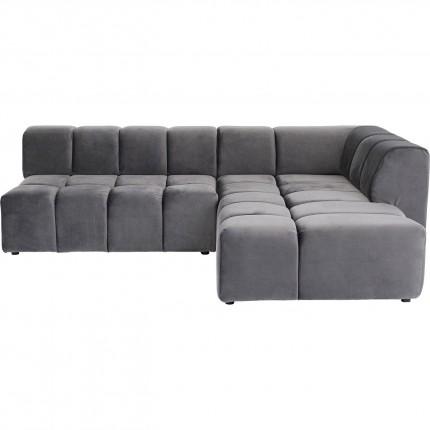 Canapé d'angle Belami droite gris Kare Design