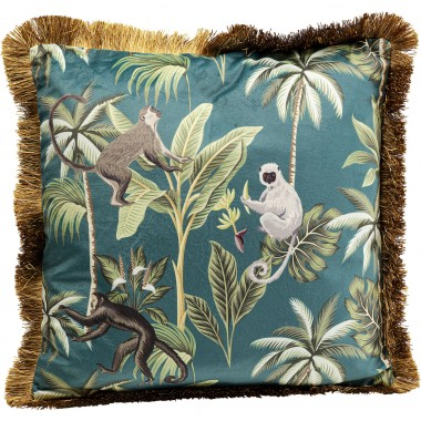 Coussin à franges Jungle Fever 45x45cm Kare Design