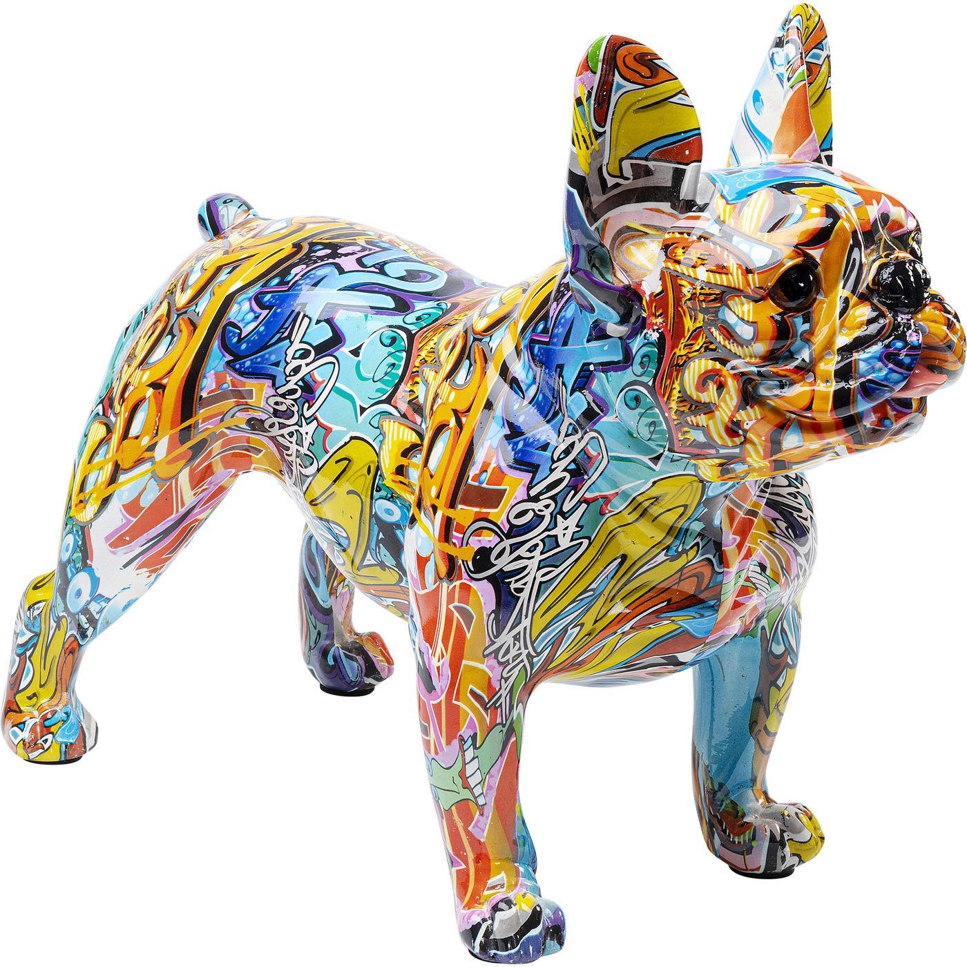 Déco Bulldog graffiti jaune Kare Design