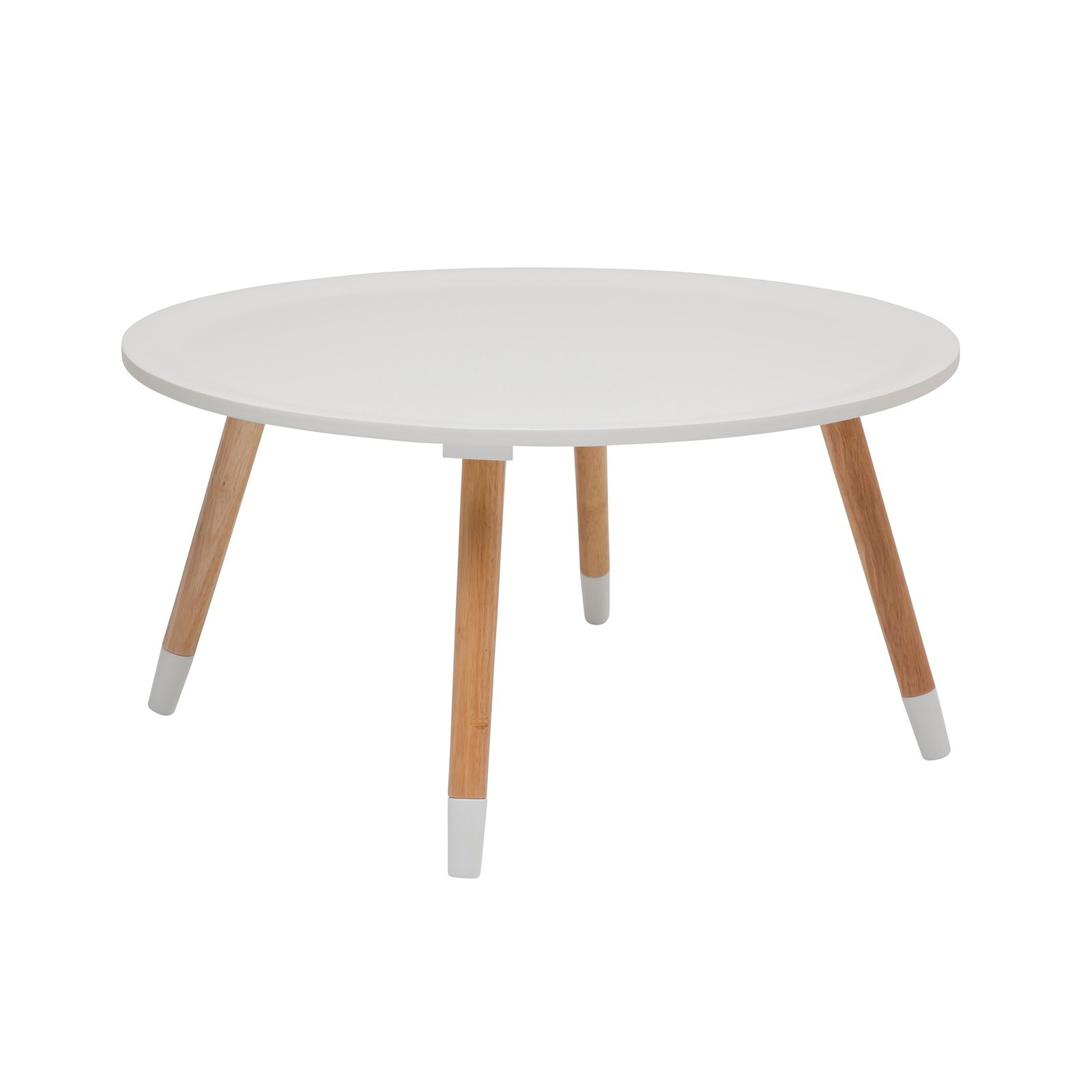 Table basse scandinave blanche blossom kare design - Table basse ronde blanche ...