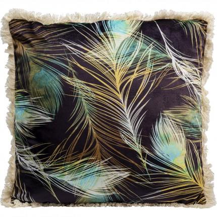 Coussin à franges plumes Kare Design
