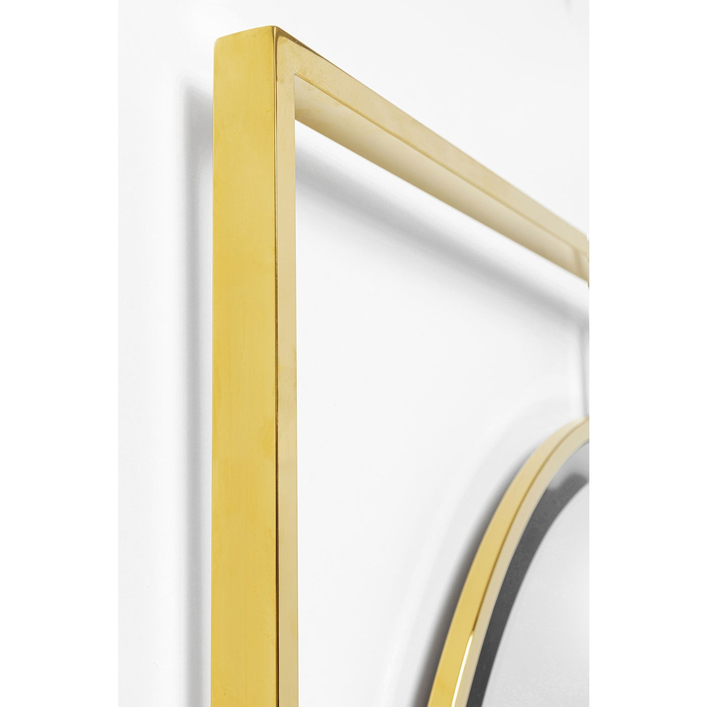 Miroir Stanford rond doré 90cm Kare Design
