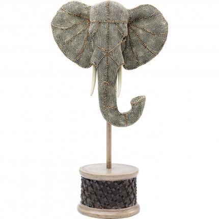 Déco tête éléphant perles 49cm Kare Design