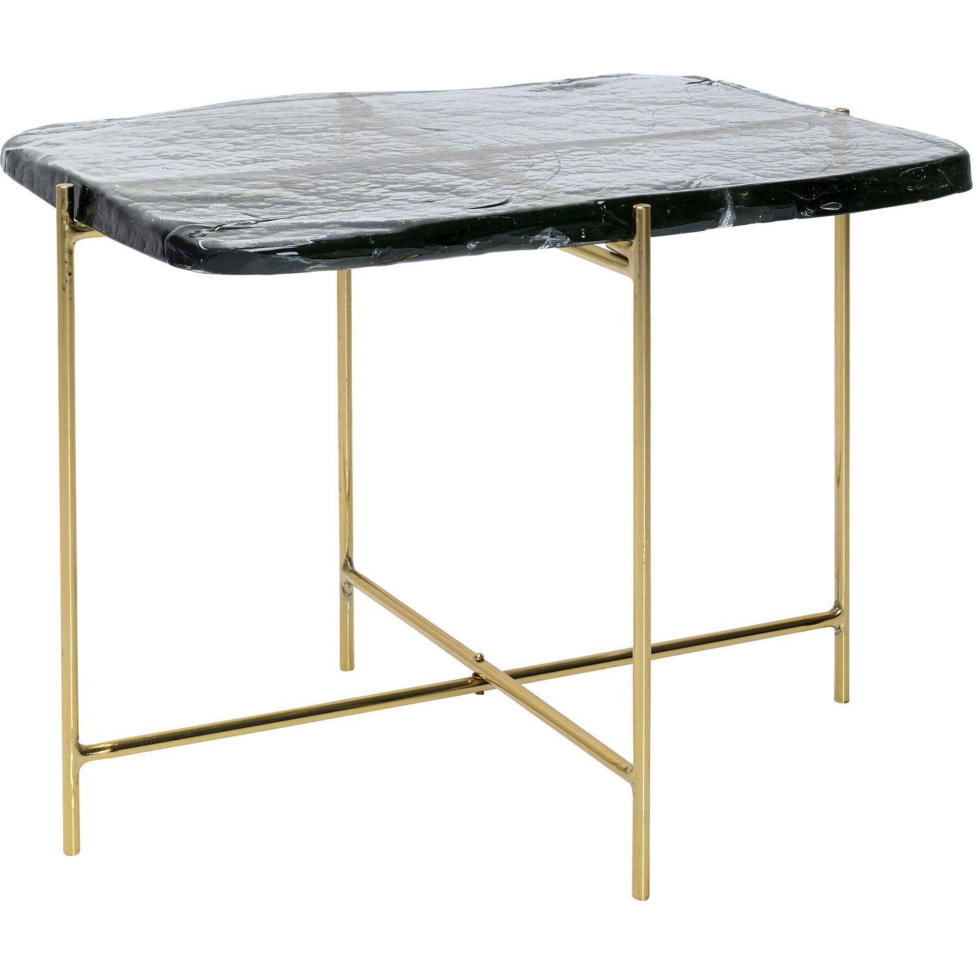 Table basse Ice 63x46cm pieds dorés Kare Design