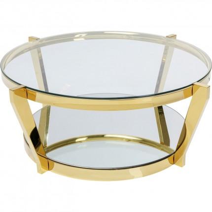 Table basse Monocolo dorée 90cm Kare Design