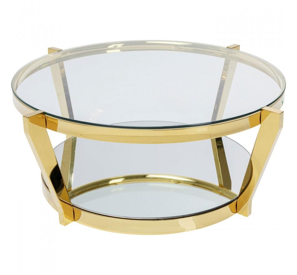 Table basse Monocolo doré 90cm Kare Design