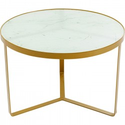 Table d'appoint Marble or 70cm Kare Design