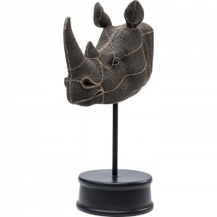 Déco tête rhino perles 69cm Kare Design
