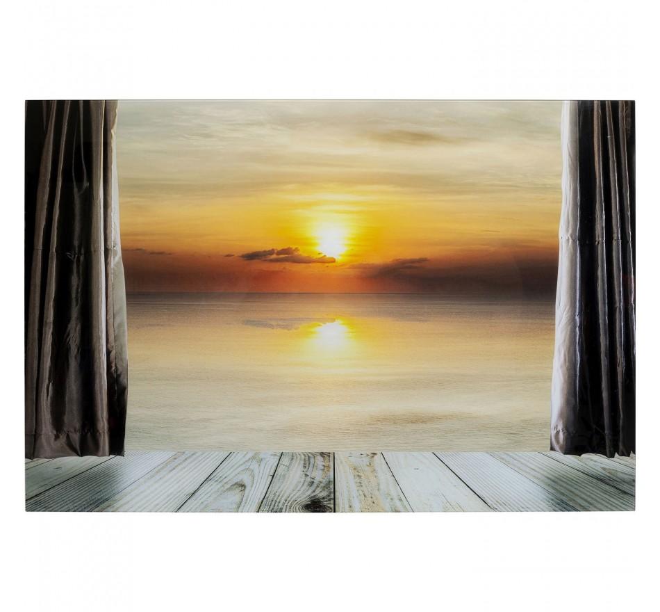Tableau en verre coucher de soleil 120x80cm Kare Design