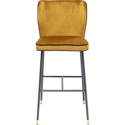 Tabouret de bar Stavanger velours jaune Kare Design