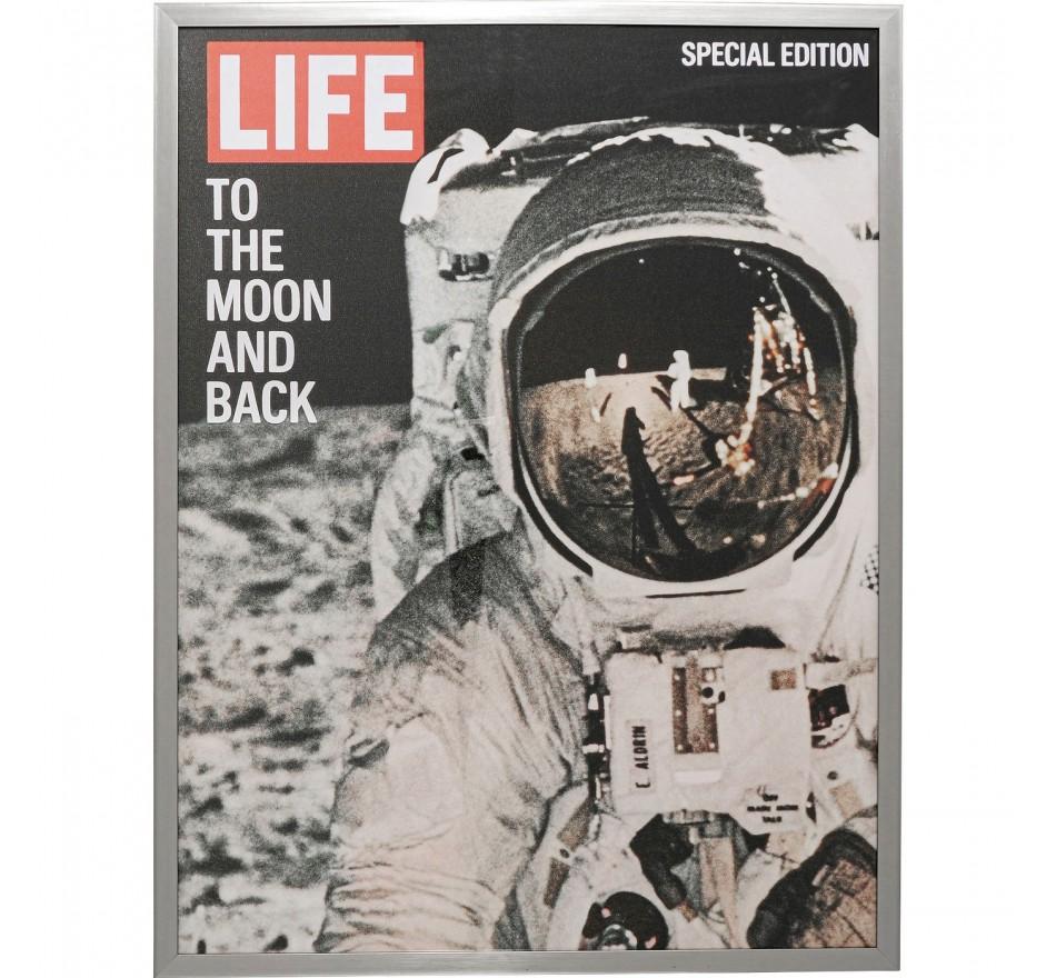 Tableau Frame Magazine Astronaute 63x83cm Kare Design