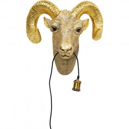 Applique murale chèvre dorée Kare Design