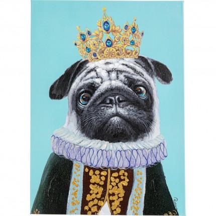 Tableau Touched chien roi 50x70cm Kare Design