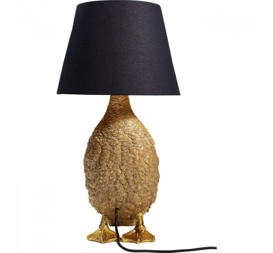 Lampe de table canard doré Kare Design