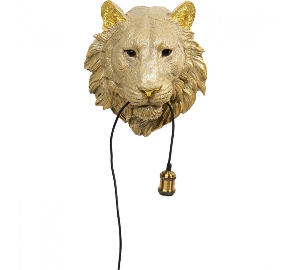 Applique murale lion doré Kare Design