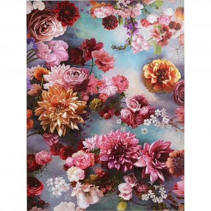 Tableau Touched ciel de fleurs 90x120cm Kare Design